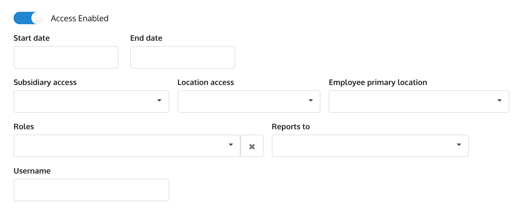 Add employee (Access)