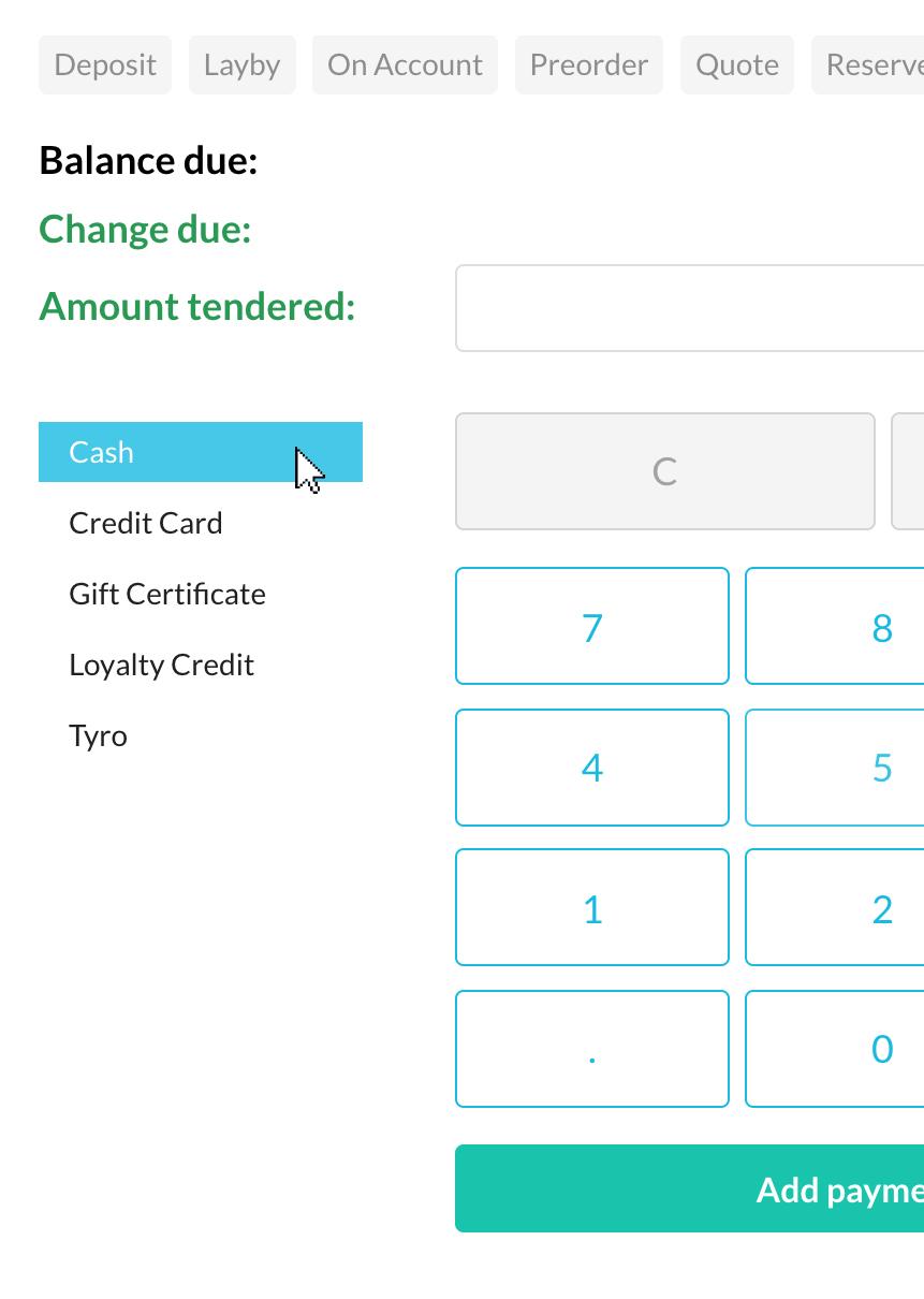 Split payment (cash)